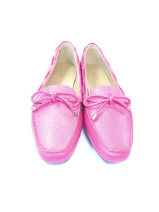 Talbots hot pink leather loafers size 7.5 NEW - My Girlfriend's Wardrobe York Pa