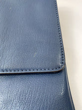 Michael Kors navy leather envelope clutch/shoulder bag - My Girlfriend's Wardrobe York Pa
