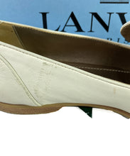 Lanvin off white leather loafers size 39