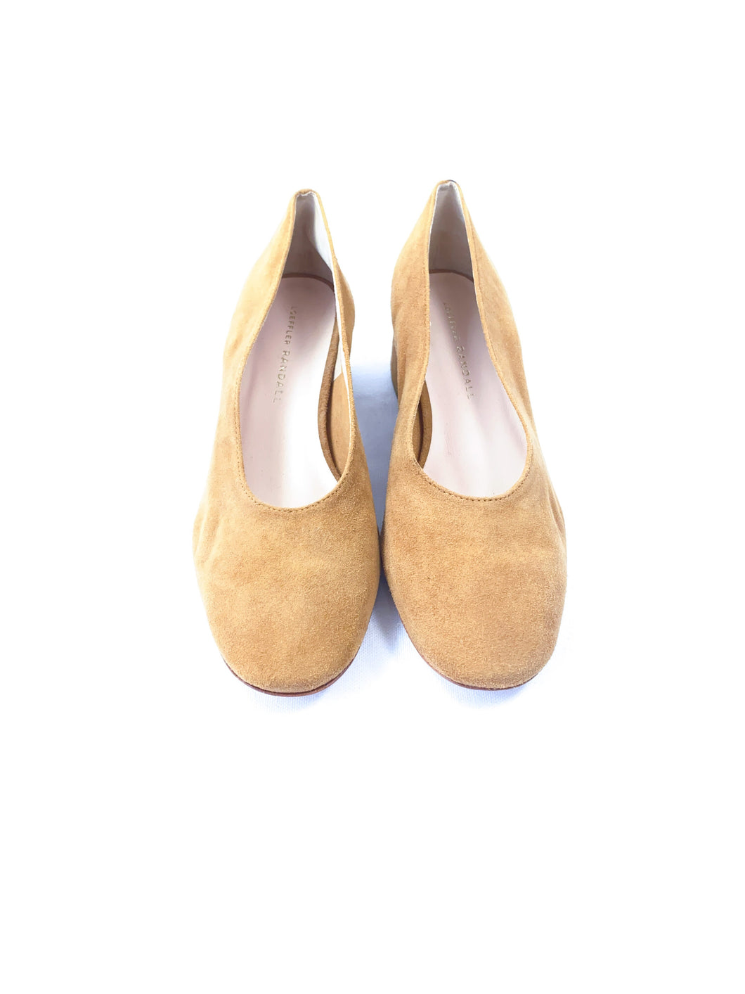 Loeffler Randal tan suede pumps size 7 - My Girlfriend's Wardrobe York Pa