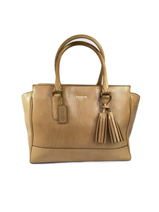 Coach Candace legacy tan leather carryall 24201