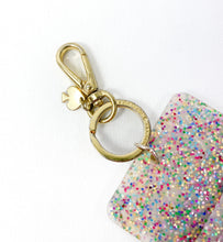 Kate Spade glitter jelly keychain ID holder - My Girlfriend's Wardrobe York Pa