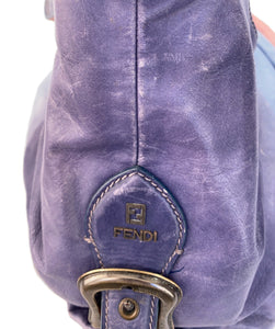 Fendi pink and blue ombre Doctor B hobo shoulder bag - My Girlfriend's Wardrobe LLC