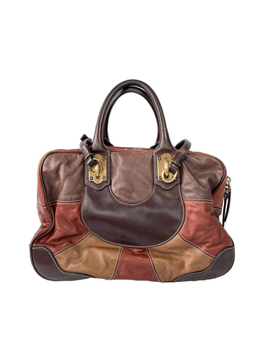 Dolce & Gabbana brown and red leather Miss Edge bag