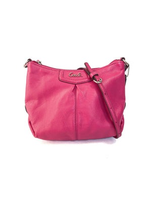Coach hot pink leather small crossbody
