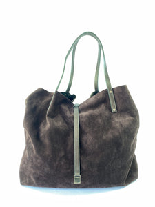 Tiffany & Co brown suede reversible tote - My Girlfriend's Wardrobe York Pa