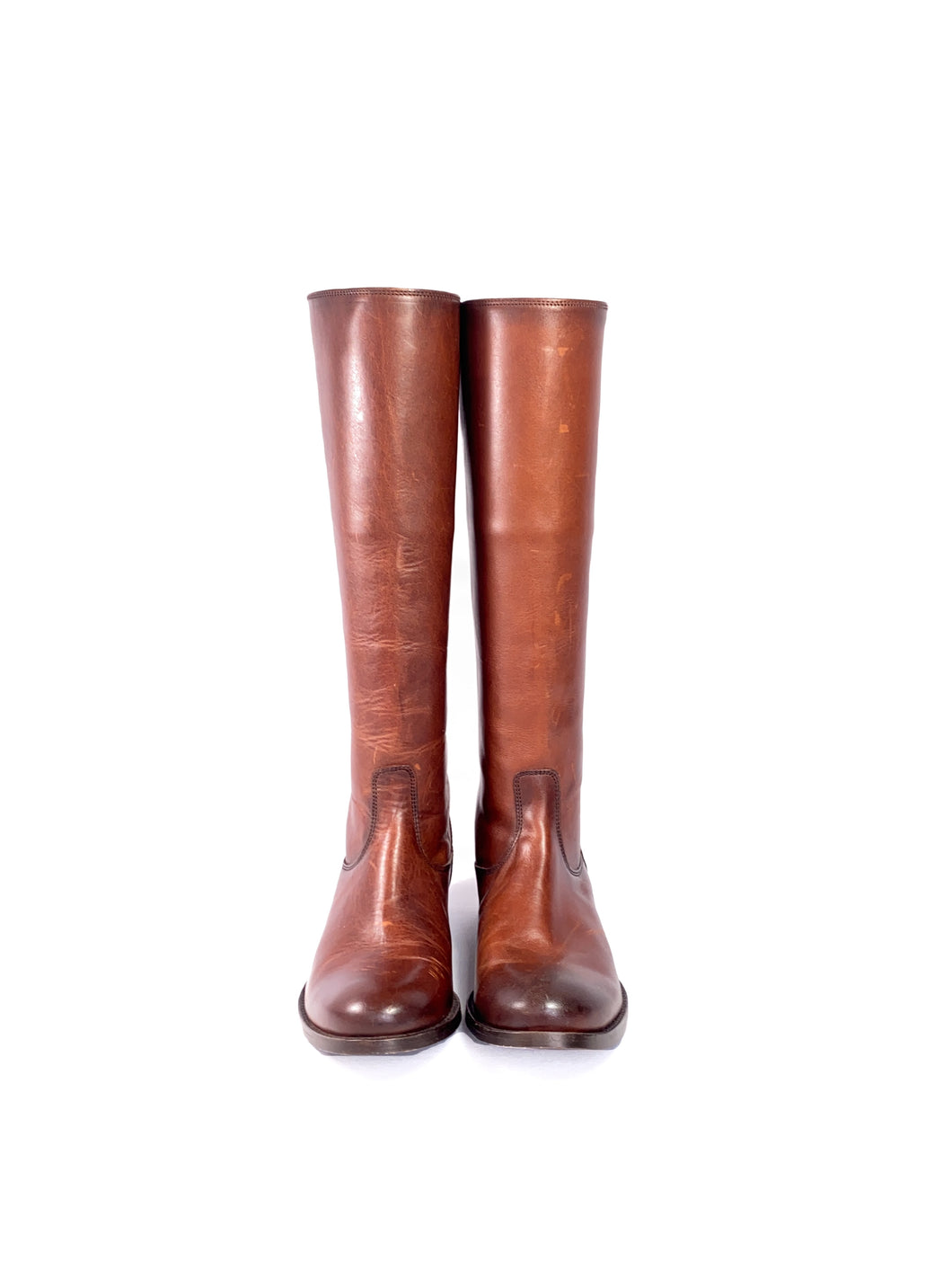 Frye brown leather tall boots size 6.5