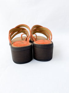 Splendid orange suede sandals size 6.5 NEW - My Girlfriend's Wardrobe York Pa