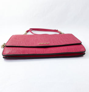 Coach hot pink textured leather crossbody - My Girlfriend's Wardrobe York Pa