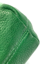 Michael Kors green leather shoulder bag