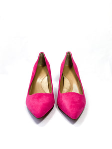 Banana Republic hot pink suede pumps size 7.5 NEW - My Girlfriend's Wardrobe York Pa