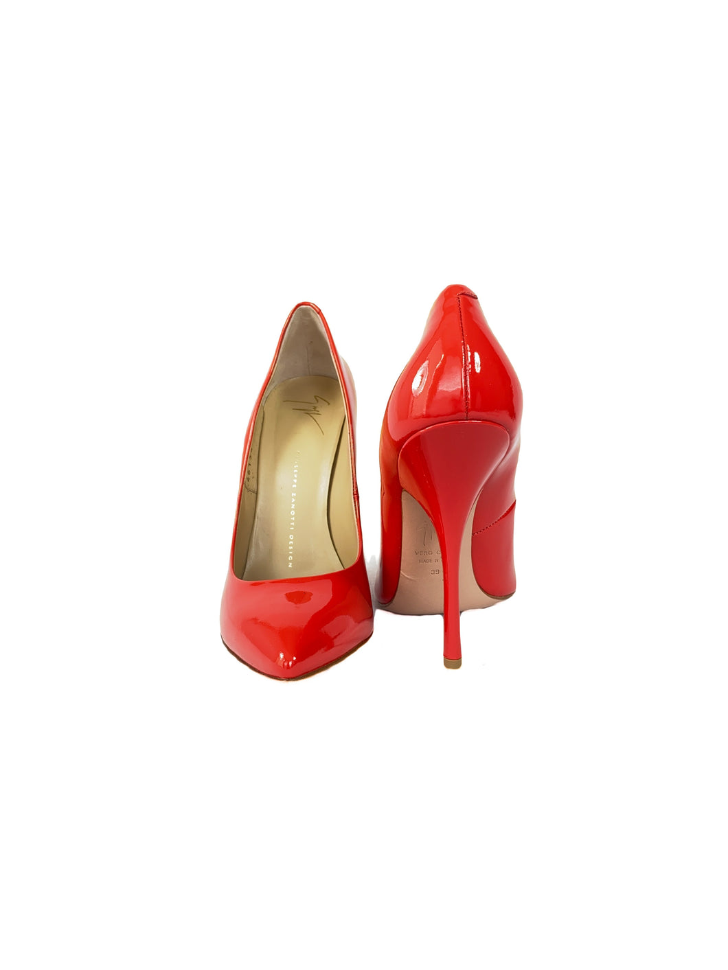 Giuseppe Zanotti Design red patent leather pump size 39 - My Girlfriend's Wardrobe LLC