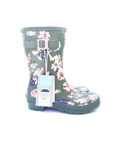 Joules mid height floral rain boots size 9 - My Girlfriend's Wardrobe York Pa