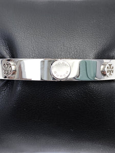 Tory Burch silver tone miller stud hinge bangle - My Girlfriend's Wardrobe York Pa