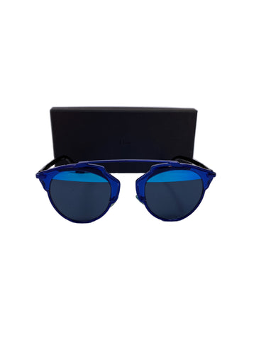 Dior blue mirrored So Real sunglasses