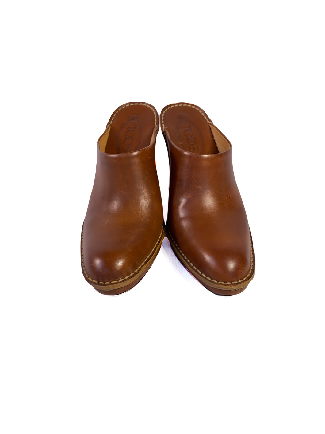 Tod's brown leather mules size 8.5