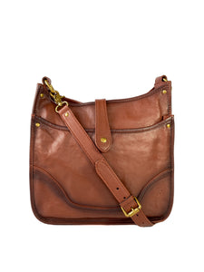 Frye cognac Madison crossbody NWT