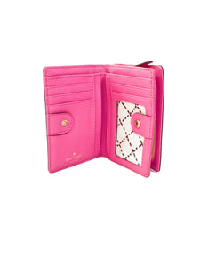 Kate Spade hot pink leather small wallet - My Girlfriend's Wardrobe LLC