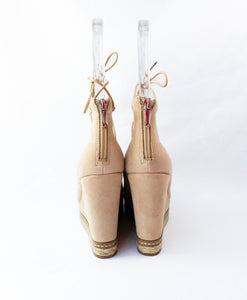 Sam Edelman tan suede leather wedges size 6 NEW - My Girlfriend's Wardrobe York Pa