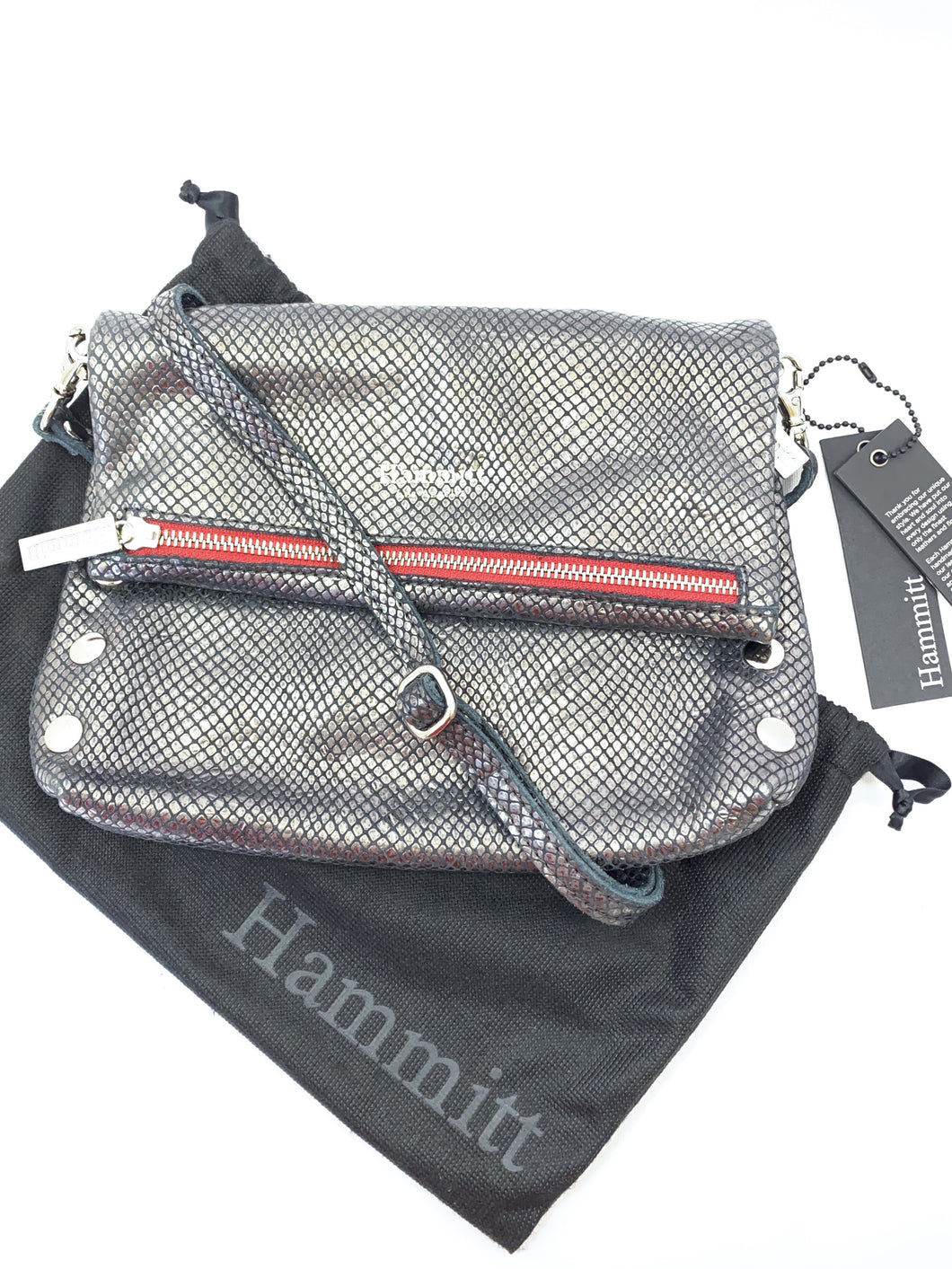 Hammitt vip pewter glacier zip crossbody - My Girlfriend's Wardrobe York Pa