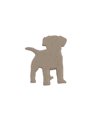 Dog polymer clay pin