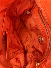Tory Burch orange leather shoulder bag - My Girlfriend's Wardrobe York Pa