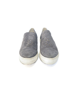 Seychelles gray suede eyelet sneakers size 9