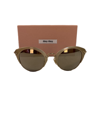 Miu Miu gold SMU 53R sunglasses