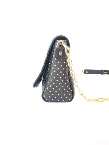 Tory Burch black and tan polka dot convertible bag - My Girlfriend's Wardrobe York Pa