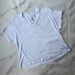 Z Supply white boxy short sleeve top size S NWT