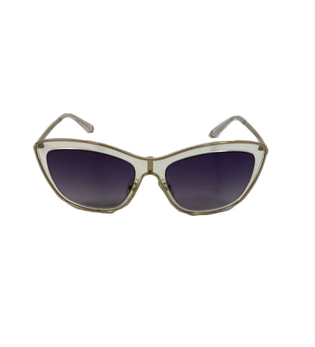 Valentino clear and gold cat eye sunglasses V108S