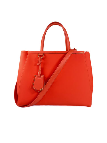 Fendi Orange 2jours Neoprene Tote