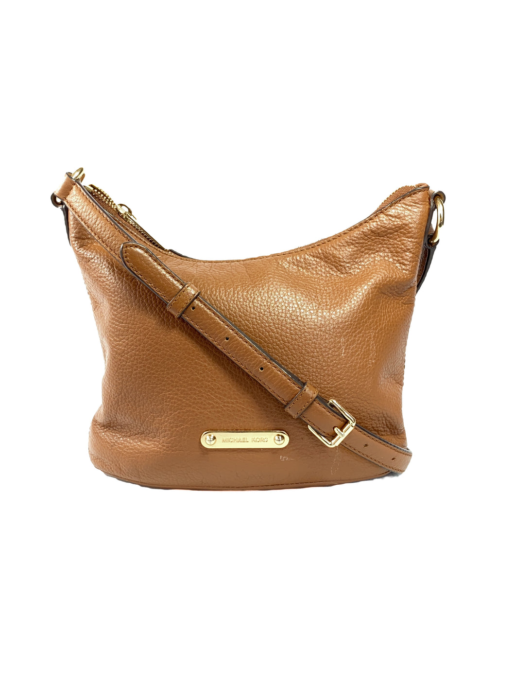 Michael Kors brown leather crossbody