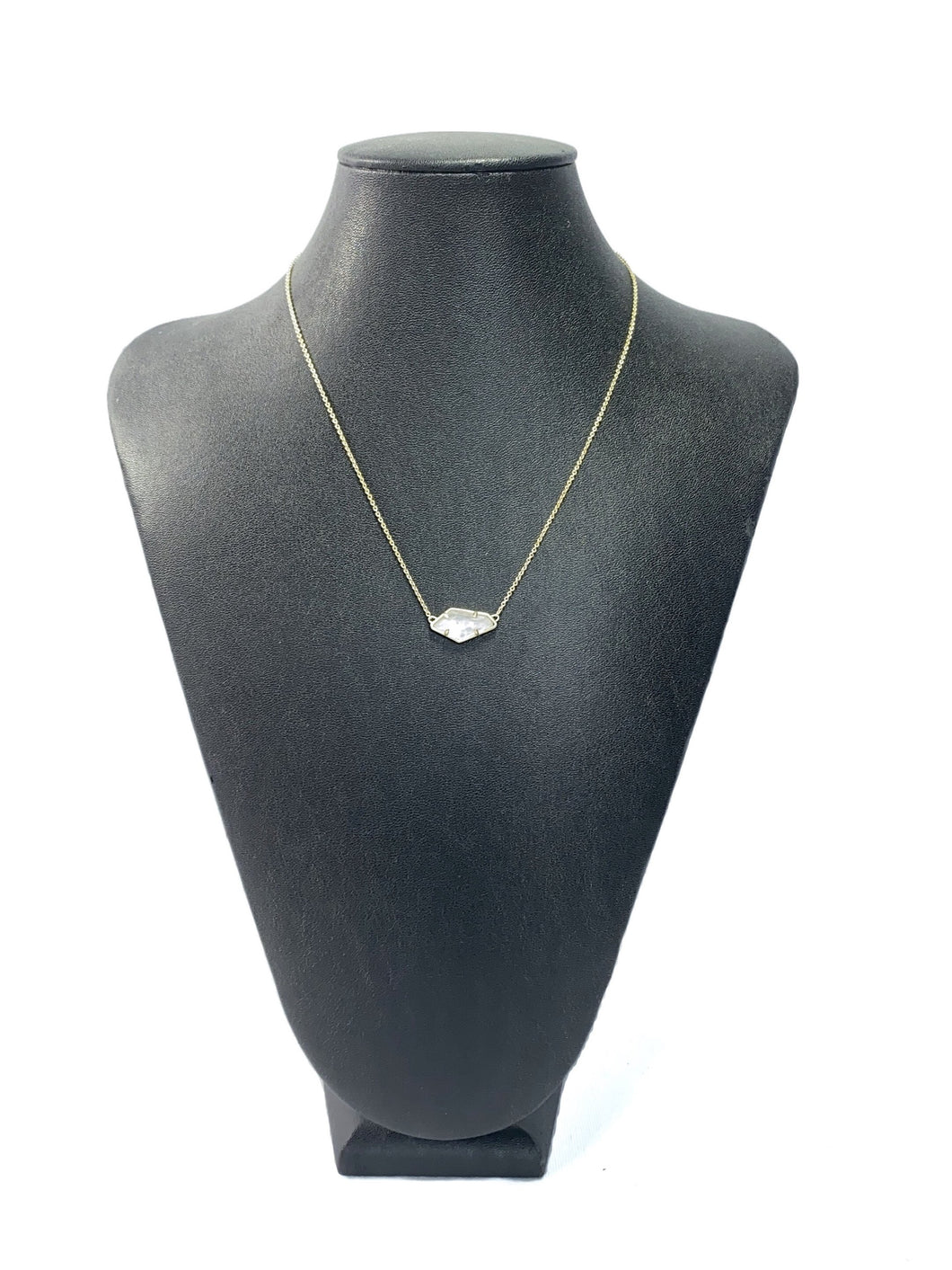 Kendra Scott small iridescent pendant necklace