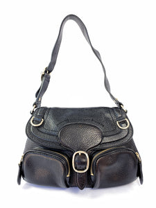 Burberry small black pebbled leather shoulder bag - My Girlfriend's Wardrobe York Pa