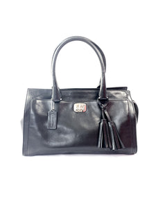 Coach black leather satchel - My Girlfriend's Wardrobe York Pa