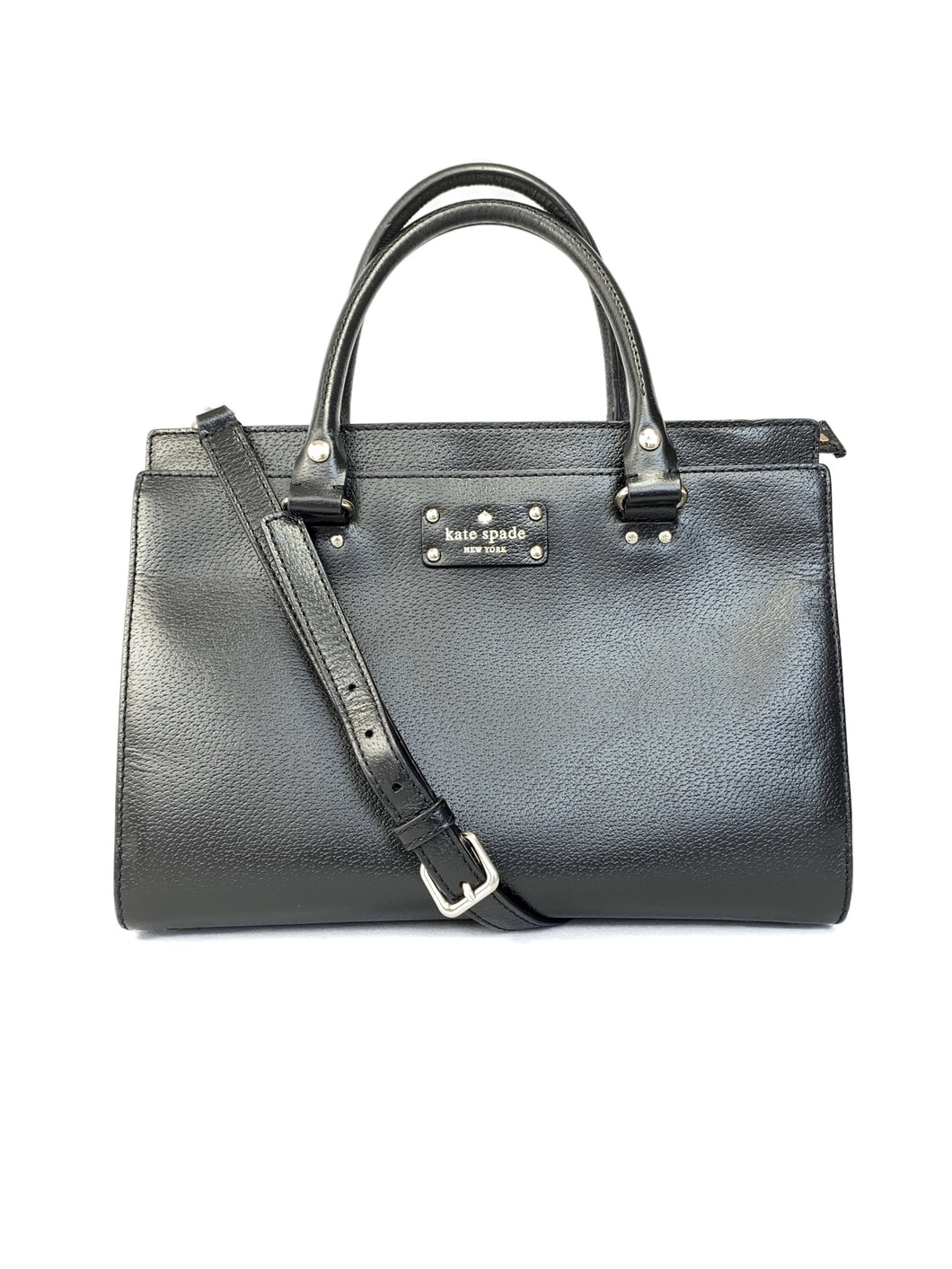 Kate Spade black convertible satchel - My Girlfriend's Wardrobe LLC