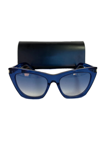 Saint Laurent blue Kate sunglasses SL214