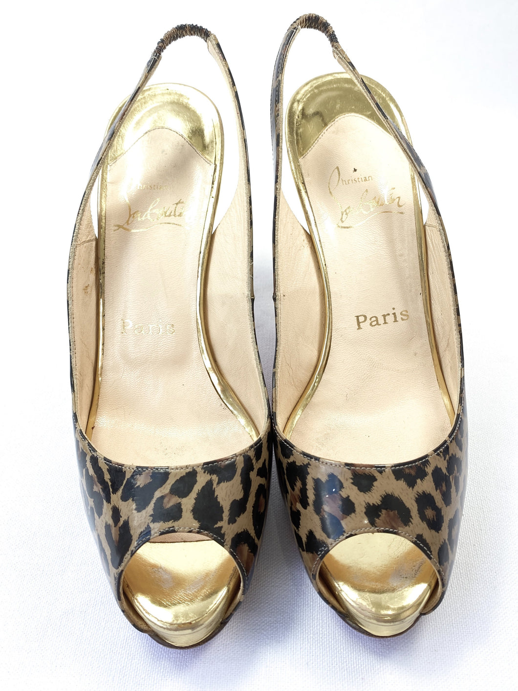 Christian Louboutin No Prive leopard print pumps size 38 - My Girlfriend's Wardrobe York Pa