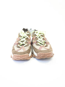 Zara brown and pink sheer panel sneakers size 39 NWT - My Girlfriend's Wardrobe York Pa