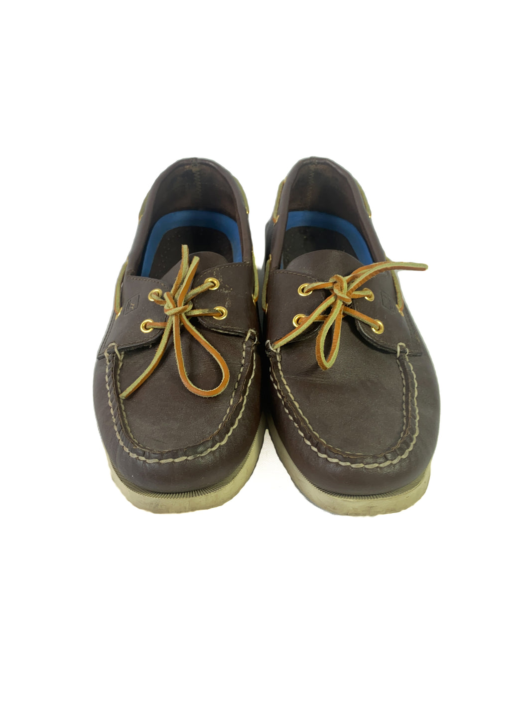 Sperry brown leather boat shoes size 11