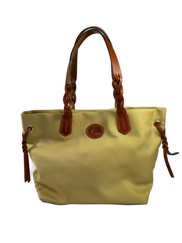 Dooney & Bourke khaki nylon shopper tote NWOT