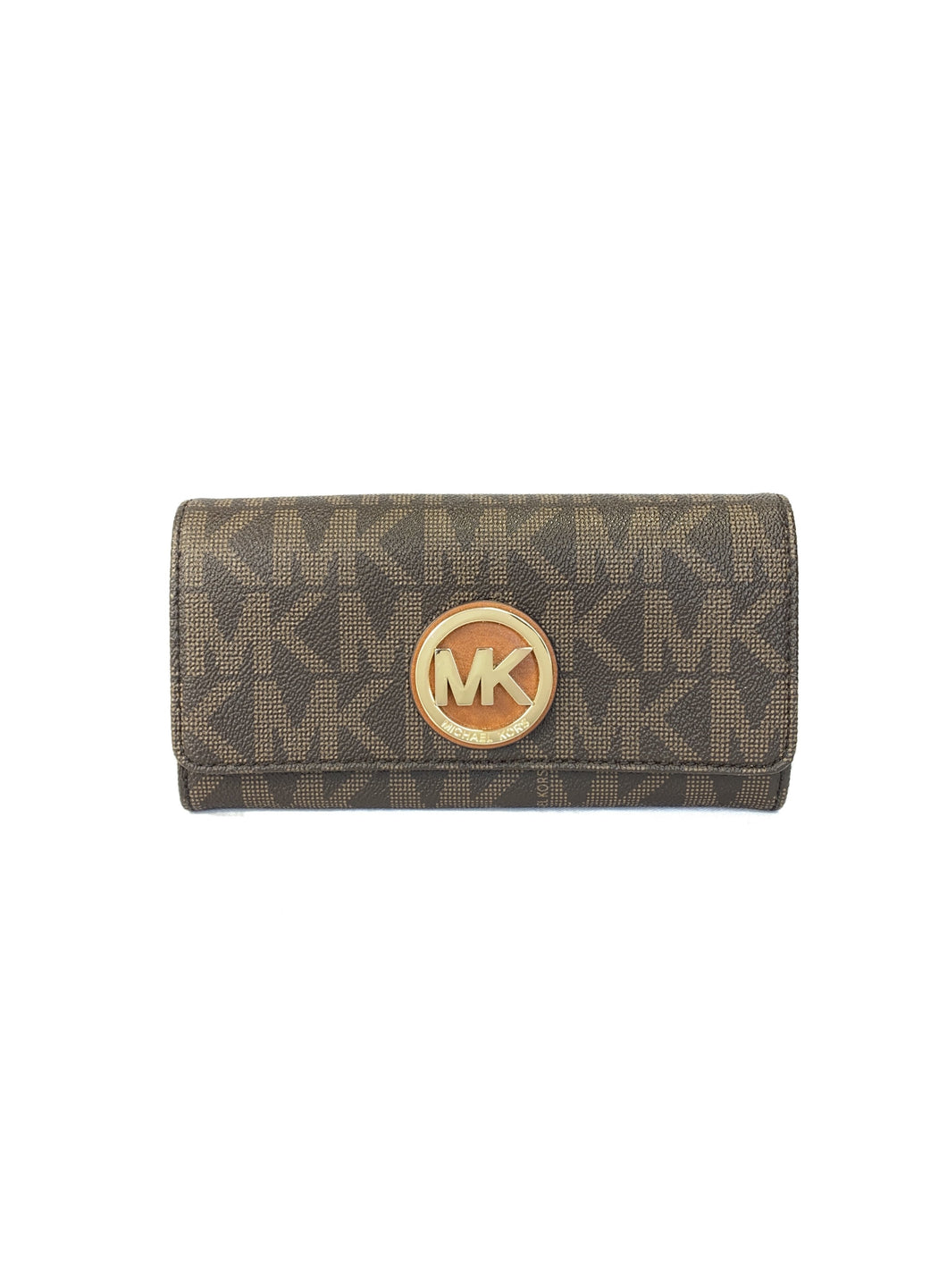 Michael Kors brown signature wallet - My Girlfriend's Wardrobe LLC