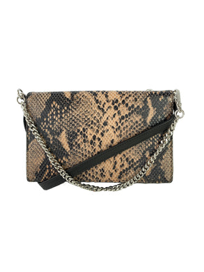 All Saints snake print leather crossbody NEW