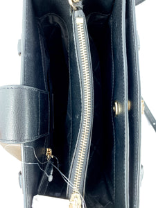 Michael Kors black Kinsley accordion satchel NWT - My Girlfriend's Wardrobe York Pa