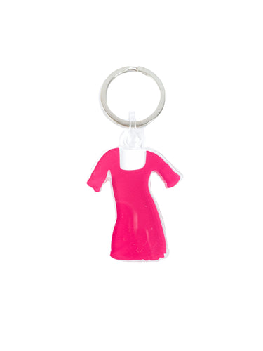 Logo pink dress keychain