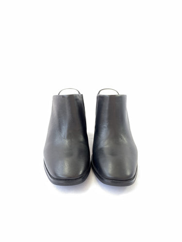 Sol Sana black leather mules size 7 - My Girlfriend's Wardrobe York Pa