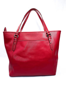 Coach red leather Peyton zip top tote F27349 - My Girlfriend's Wardrobe York Pa