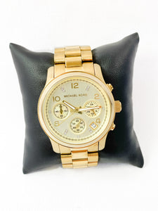 Michael Kors gold metal  limited edition watch - My Girlfriend's Wardrobe York Pa