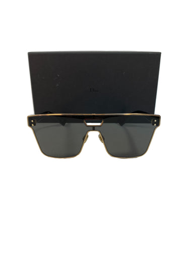 Dior Diorizon 1 black gold shield sunglasses